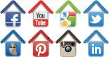 6 social media icons